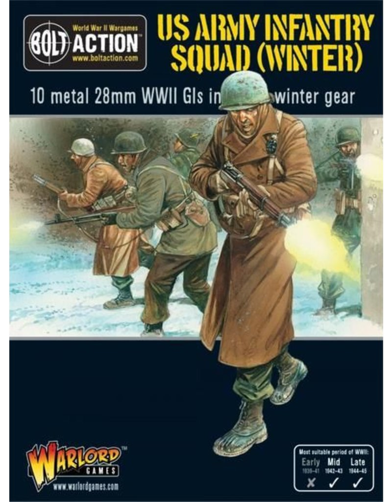 Warlord Games US Army Infantry Squad in Winter Clothing