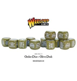 Warlord Games Orders Dice - Olive Drab (12)