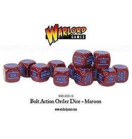 Warlord Games Orders Dice - Maroon (12)
