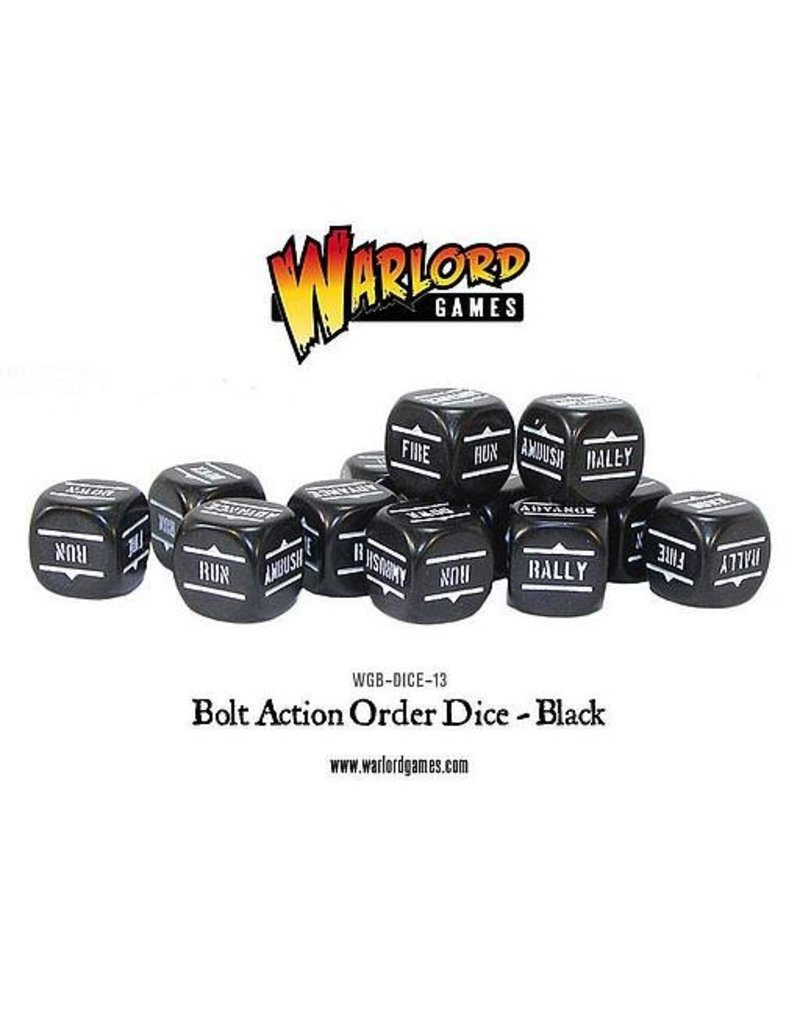 Warlord Games Bolt Action Orders Dice - Black (12)