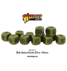 Warlord Games Orders Dice - Green (12)