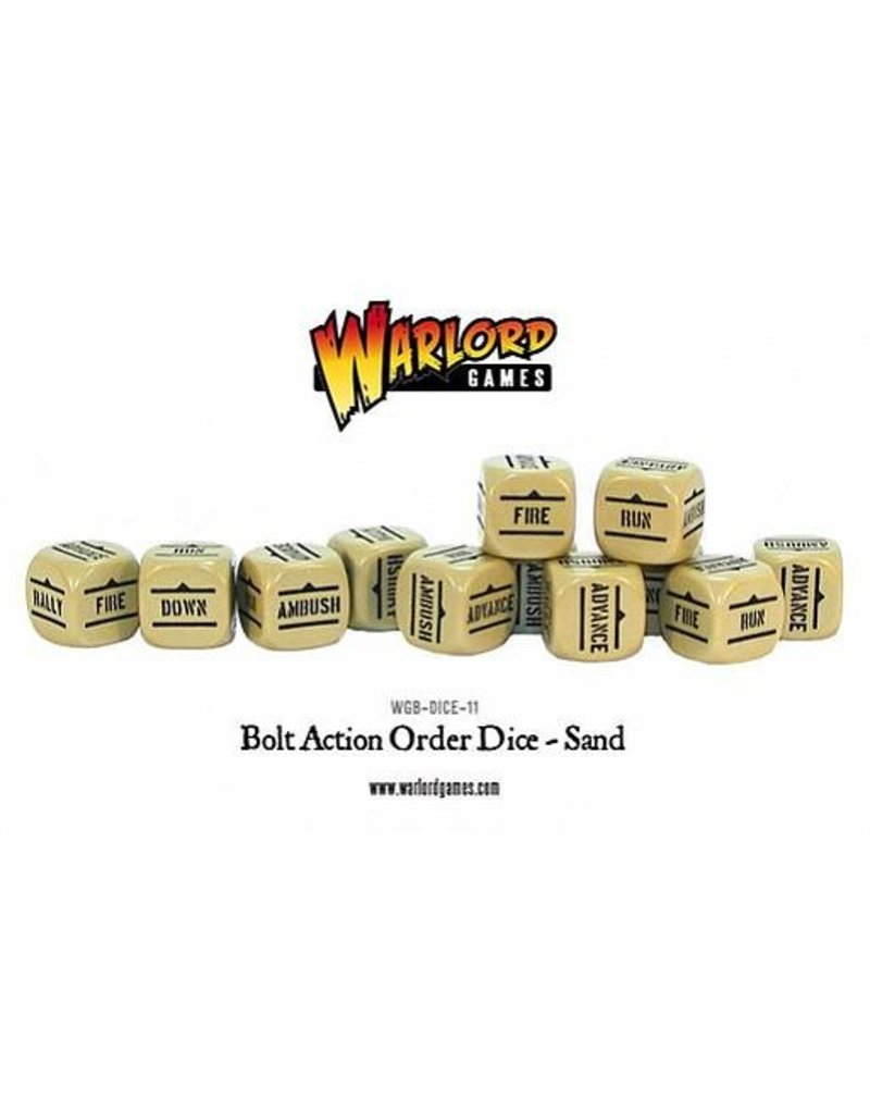 Warlord Games Bolt Action Orders Dice - Sand (12)
