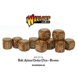 Warlord Games Orders Dice - Brown (12)