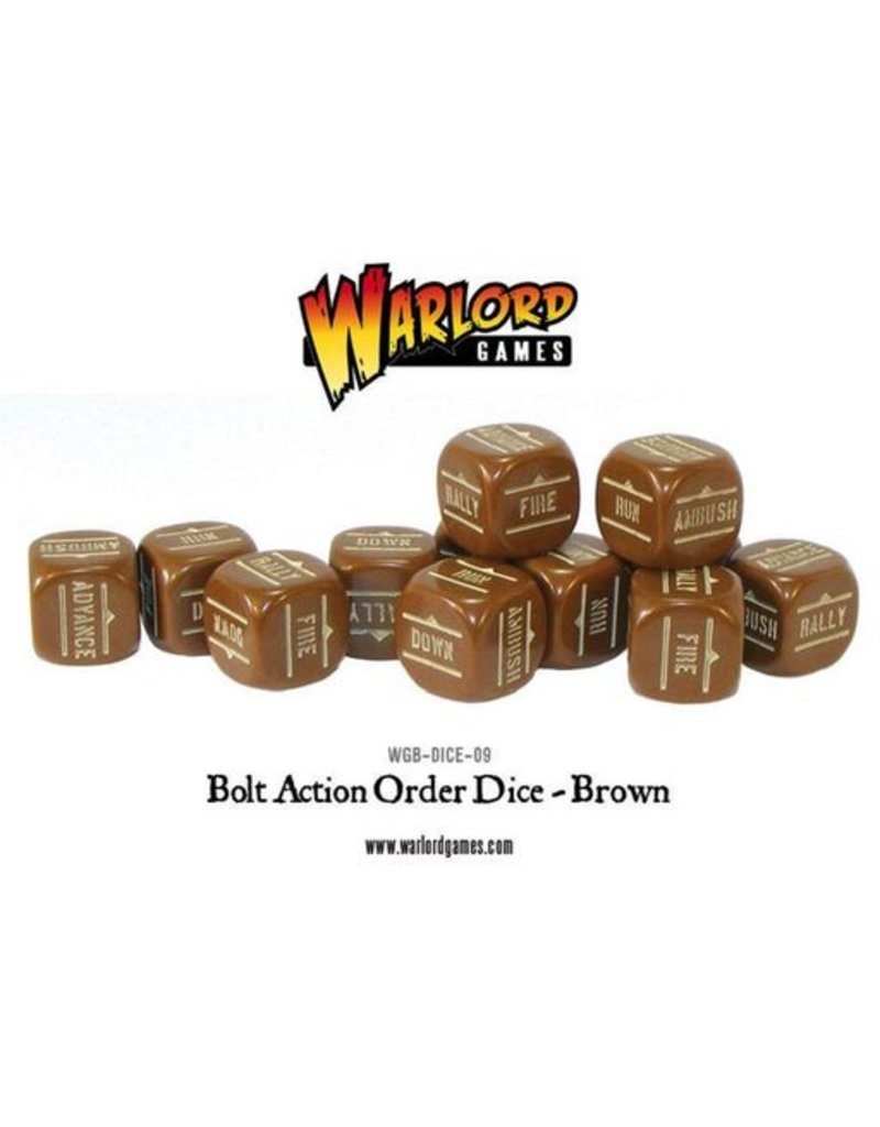 Warlord Games Bolt Action Orders Dice - Brown (12)