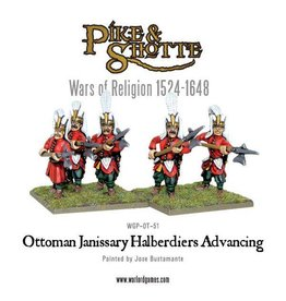 Warlord Games Ottoman Janissary Halberdiers Advancing