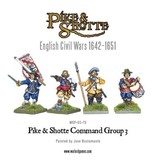 Warlord Games English Civil Wars 1642-1652 Pike & Shotte Command Group 3 Pack