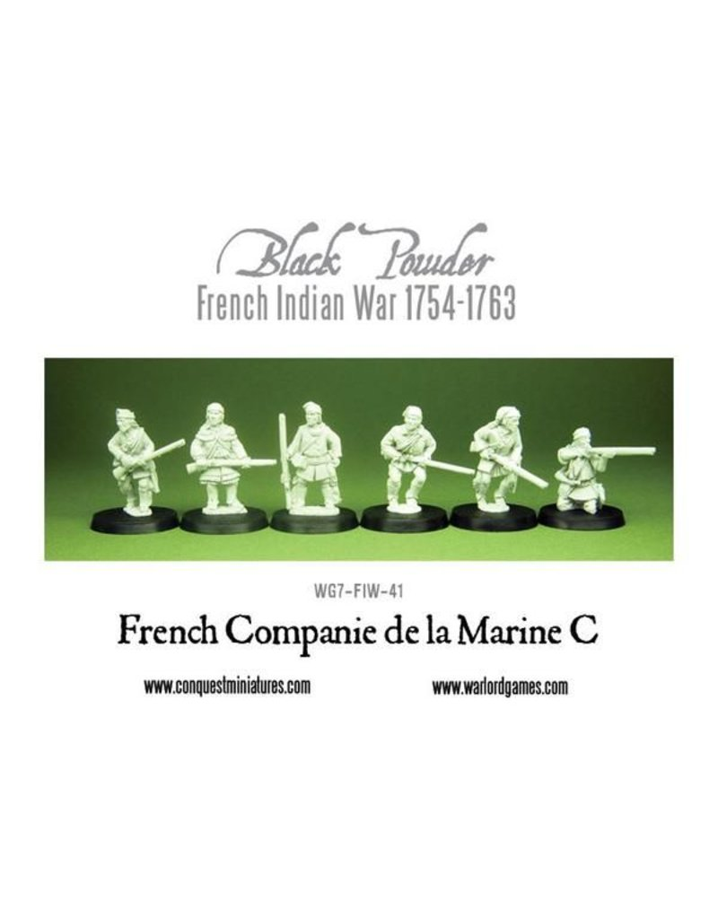 Warlord Games French Indian War 1754-1763 French Companie De La Marine C Pack