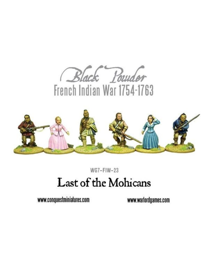 Warlord Games French Indian War 1754-1763 Last Of The Mohicans Pack