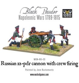 Warlord Games Russian 12 Pounder Cannon Firing (1809-1815)