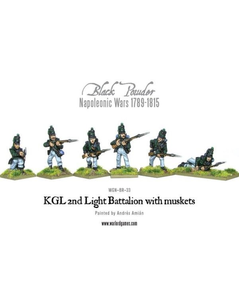 Warlord Games Napoleonic Wars 1789-1815 Kgl 2nd Light Battalion With Muskets Pack