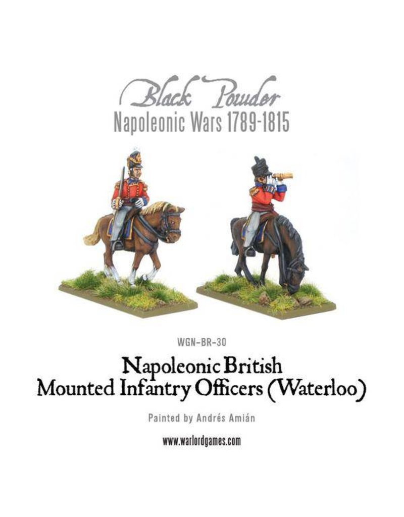 Warlord Games Napoleonic Wars 1789-1815 Mounted British Infantry Colonels (Waterloo) Pack