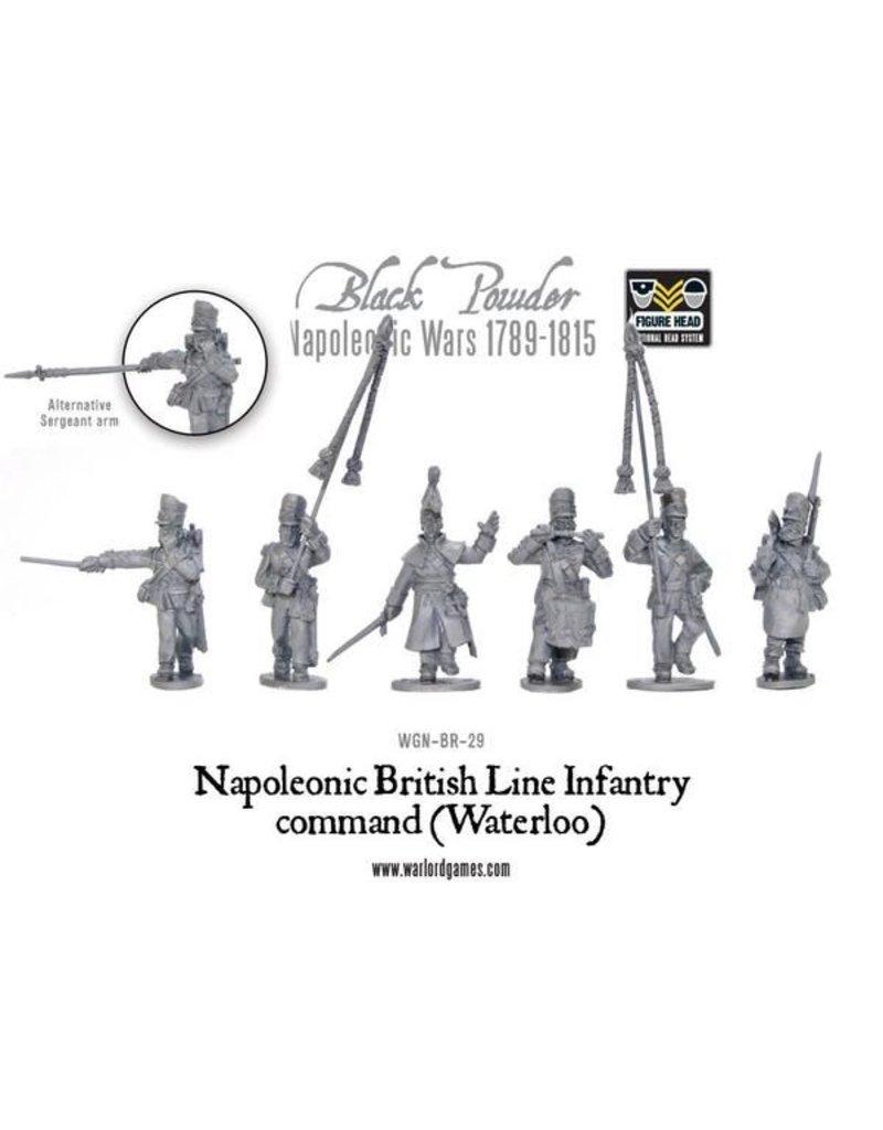 Warlord Games Napoleonic Wars 1789-1815 British Line Infantry Command (Waterloo) Box Set
