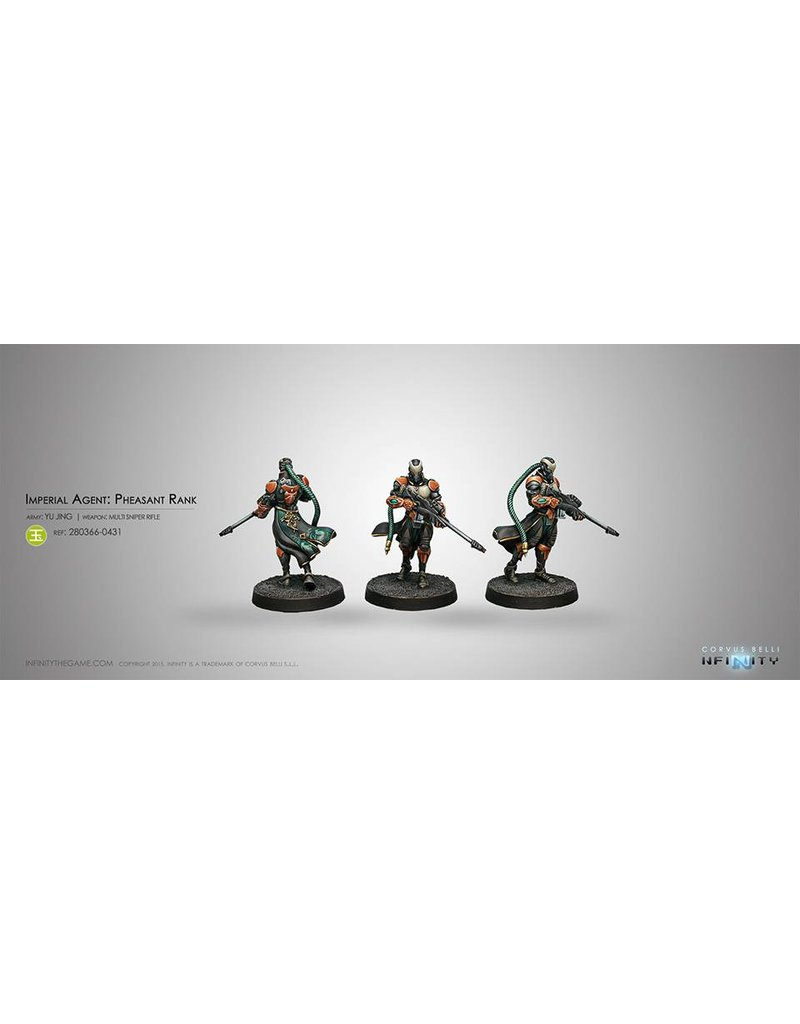 Corvus Belli Yu Jing Imperial Agent, Pheasant Rank (Sniper) Blister Pack