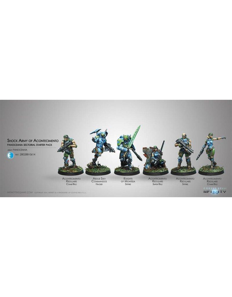 Corvus Belli Panoceania Acontecimento Shock Army ( Sectorial Starter Pack) Box Set