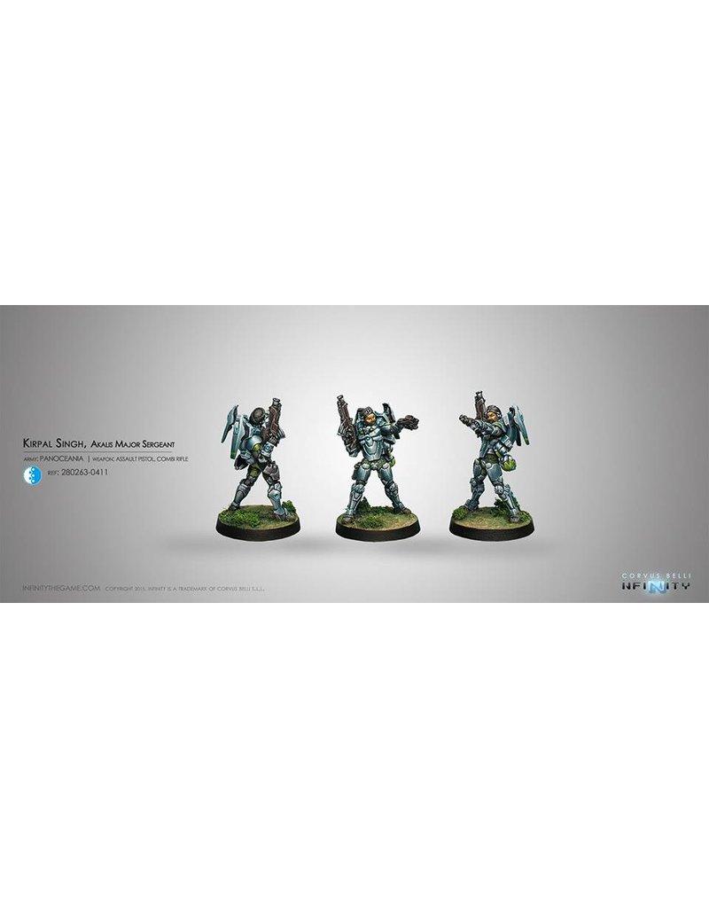 Corvus Belli Panoceania Kirpal Sighn, Akalis Sergeant  (Assault Pistol, Combi Rifle) Blister Pack