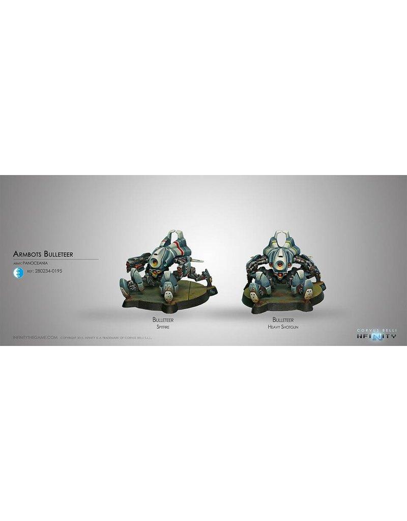 Corvus Belli Panoceania Armbots Bulleteer (Spitfire, Heavy Shotgun)  Blister Pack