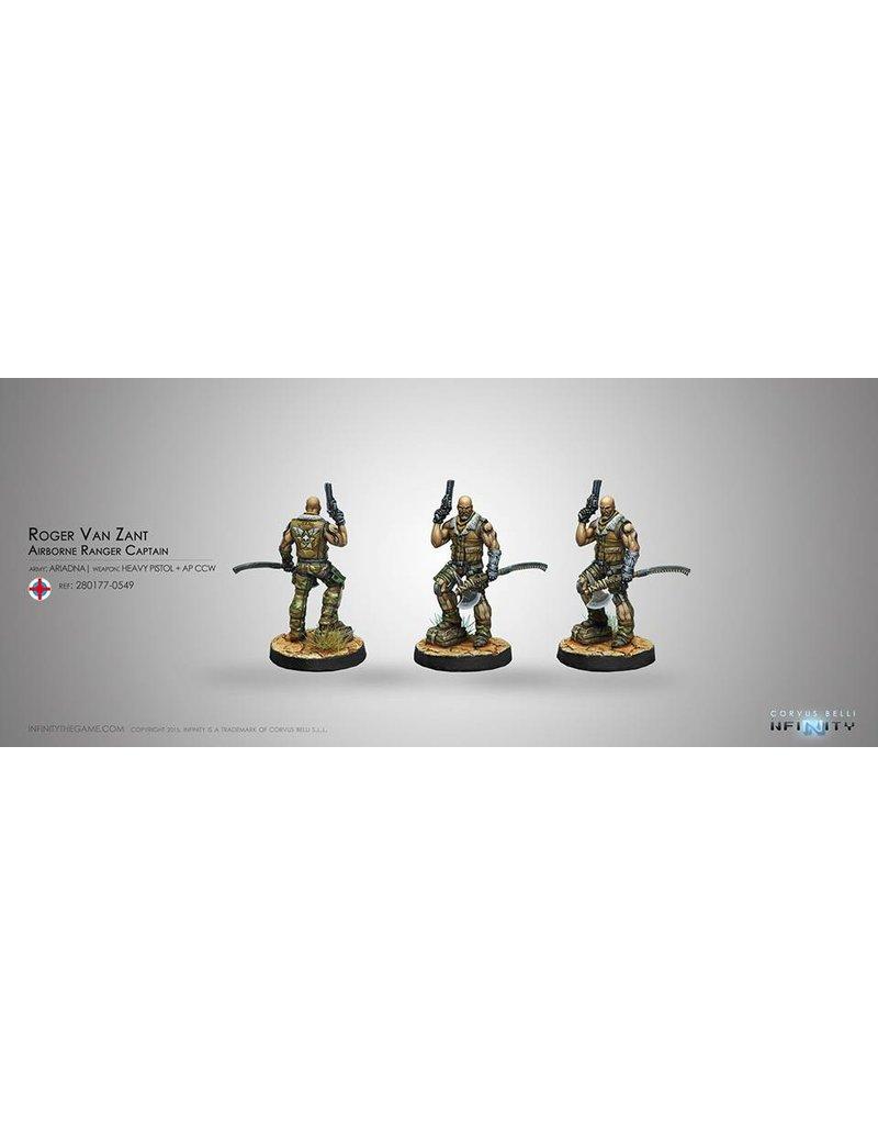 Corvus Belli Ariadna Roger Van Zant, Cpt. 6th Airborne (Heavy Pistol, AP CCW) Blister Pack