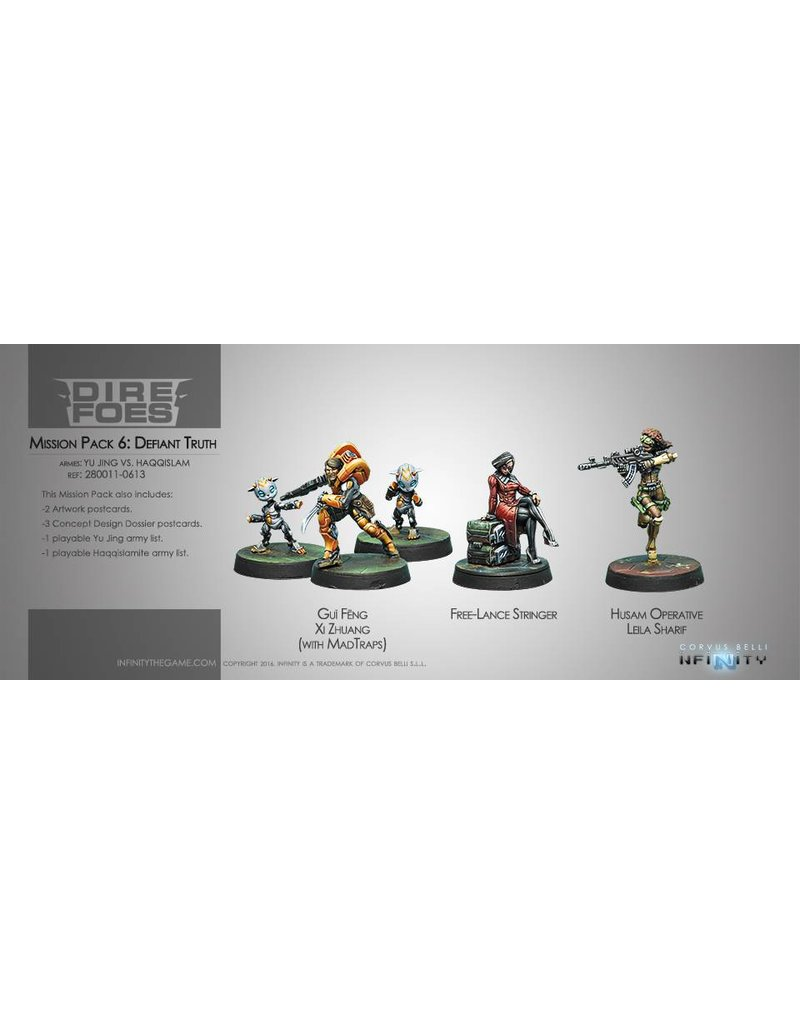Corvus Belli Dire Foes Mission Pack 6. Defiant Truth (Yu Jing vs Haqqislam)