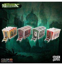 Plastcraft Dark-Carnival Circus Wagons Set (4 x pre-painted)