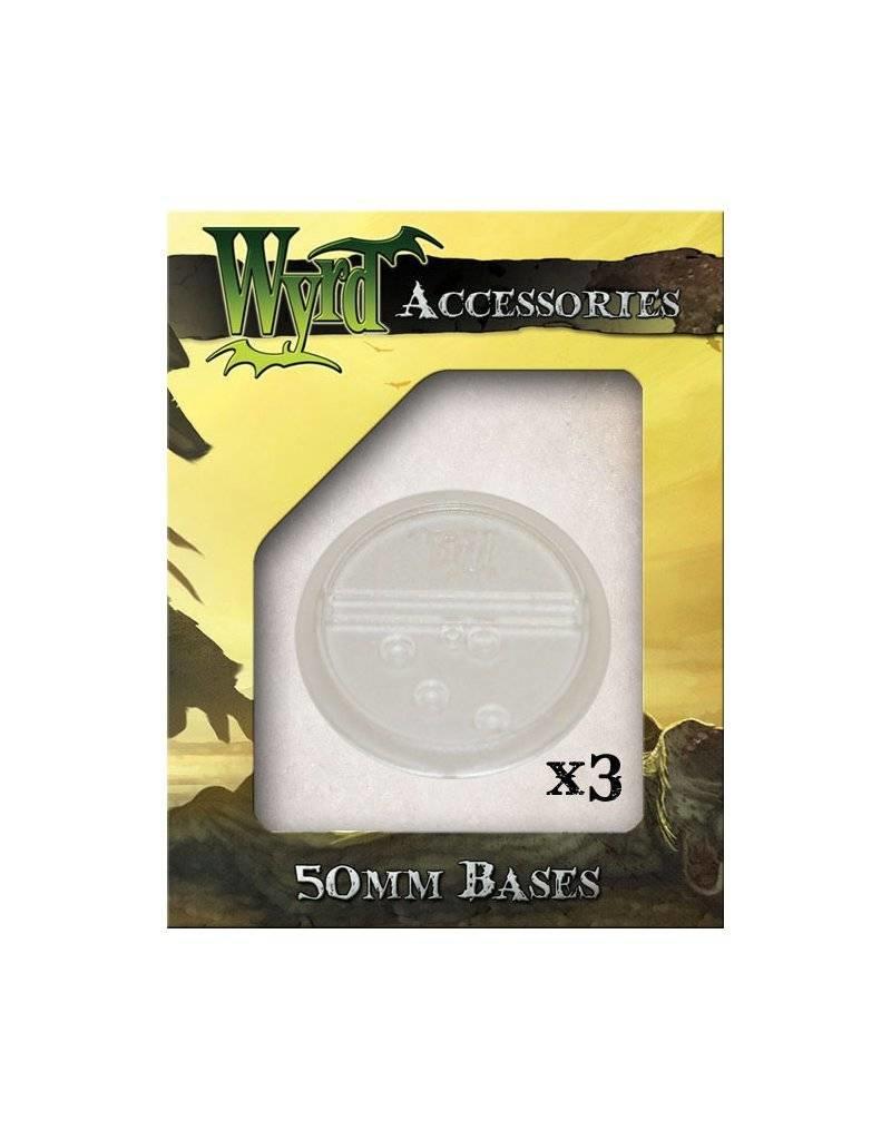 Wyrd Clear  Bases 50mm (3)