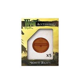 Wyrd Brown Bases 40mm