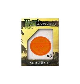 Wyrd Orange Bases 50mm
