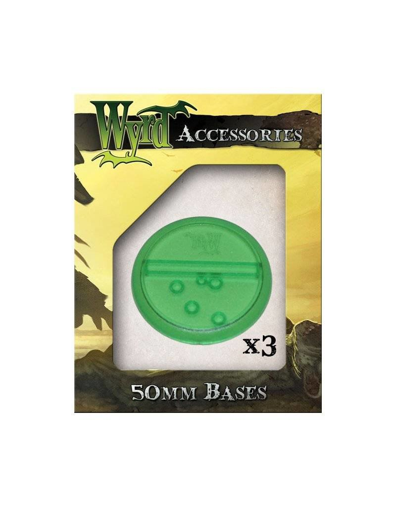 Wyrd Green Translucent Bases 50mm (3)