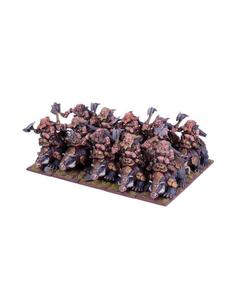 Mantic Games Dwarfs: Berserker Brock Riders Regiment