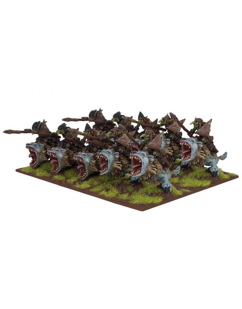 Mantic Games Goblins: Fleabag Rider Regiment
