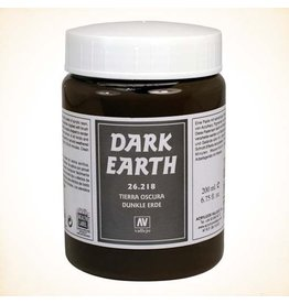 Vallejo Dark Earth Paste 200ml