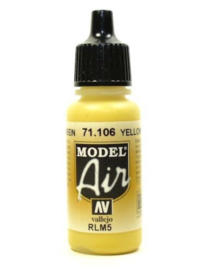 Vallejo Model Air - Yellow Lazure (RLM 05) 17ml
