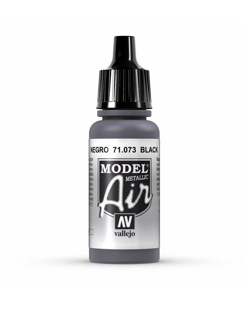 Vallejo Model Air - Black (Metallic) 17ml