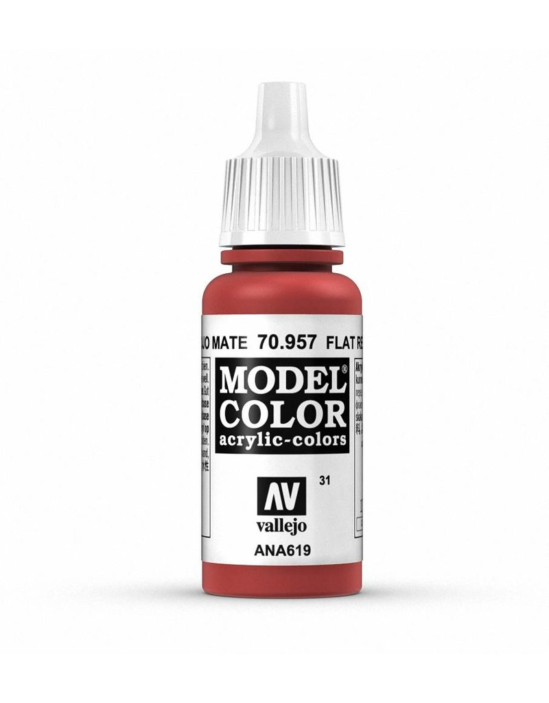 Vallejo Model Color - Flat Red 17ml