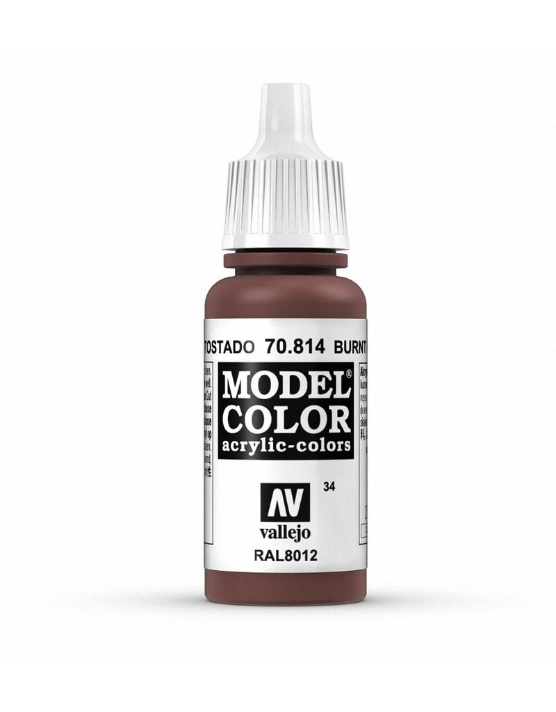Vallejo Model Color - Burnt Cadmium Red 17ml