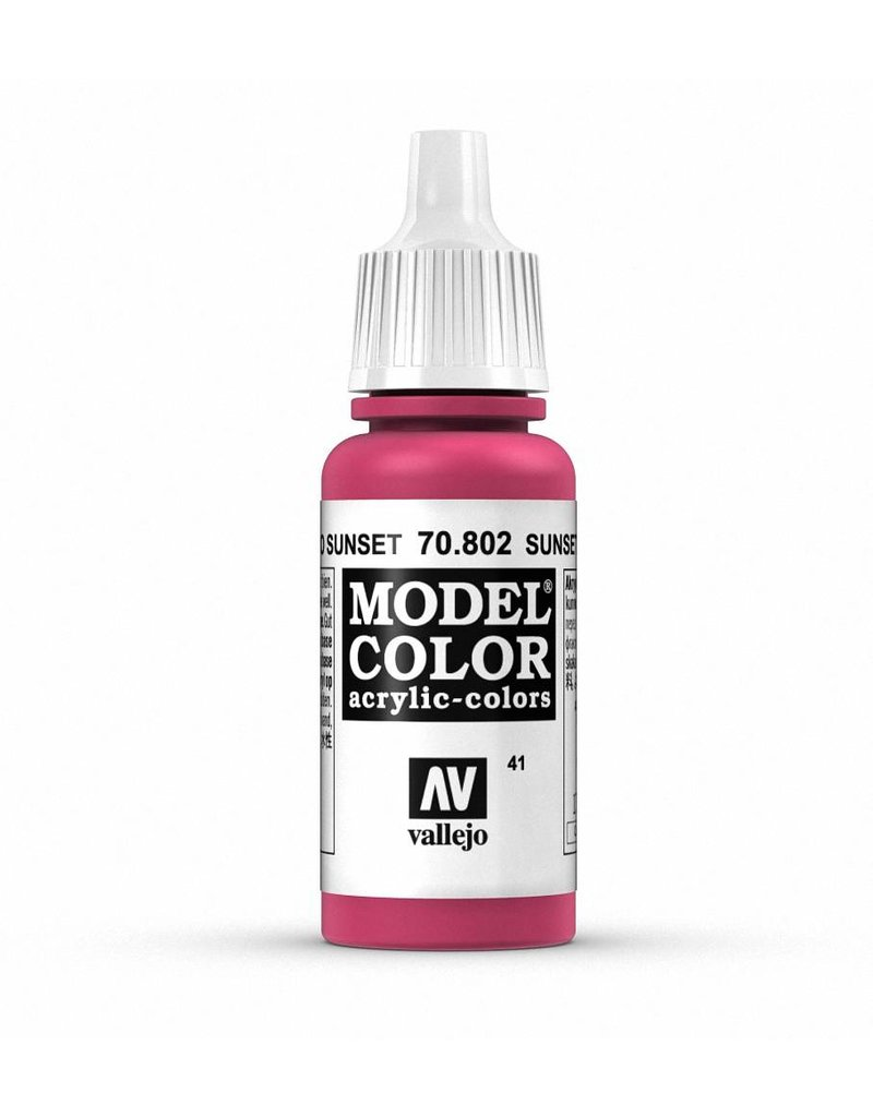 Vallejo Model Color - Sunset Red 17ml
