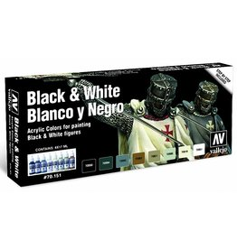 Vallejo Black and White Paint Set