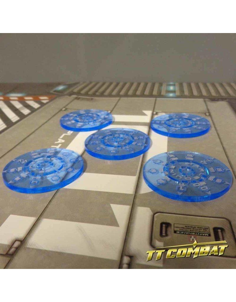 TT COMBAT Smoke tokens - Neptune Blue