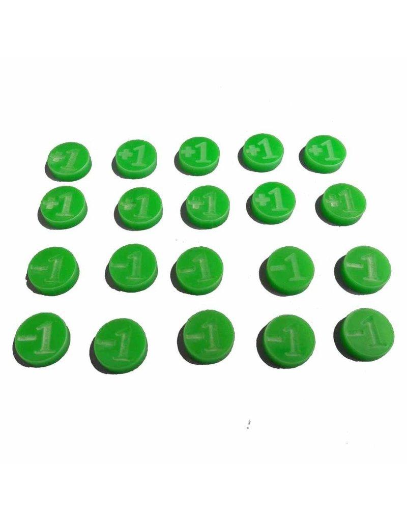 TT COMBAT +1/-1 Counters - Green - Set of 20