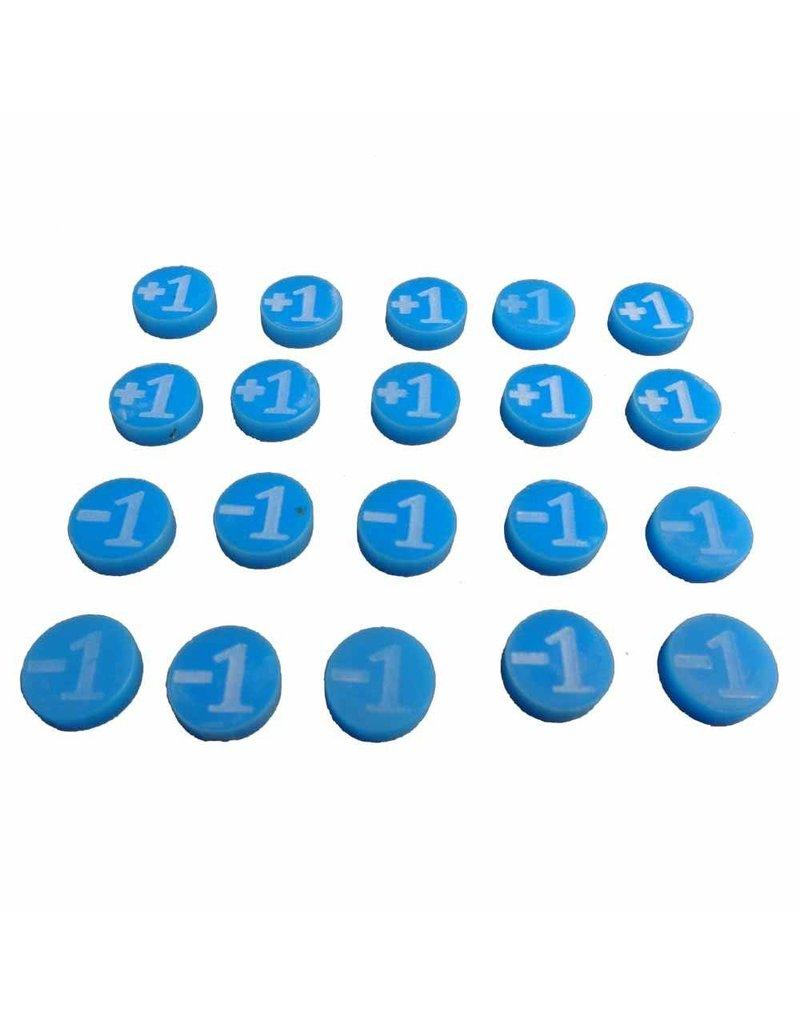 TT COMBAT +1/-1 Counters - Blue - Set of 20