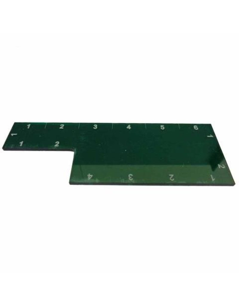 "TT COMBAT 6"" Range Ruler - Green"