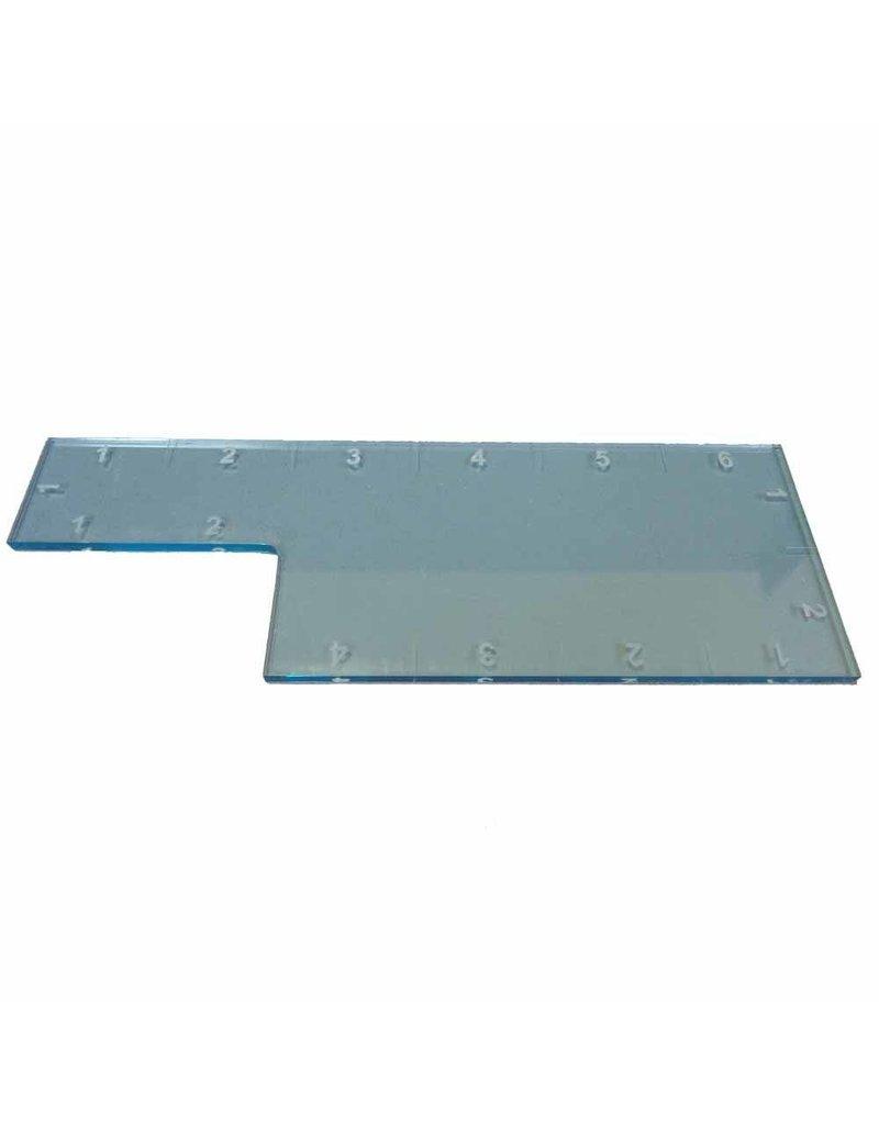 """TT COMBAT 6"""" Range Ruler - Light Blue"""