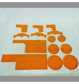 TT COMBAT Orange Warmachine templates