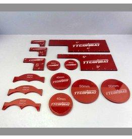TT COMBAT Red Warmachine templates