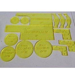 TT COMBAT Yellow Warmachine  templates