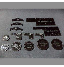 TT COMBAT Black Warmachine templates