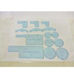 TT COMBAT Light Blue Warmachine templates