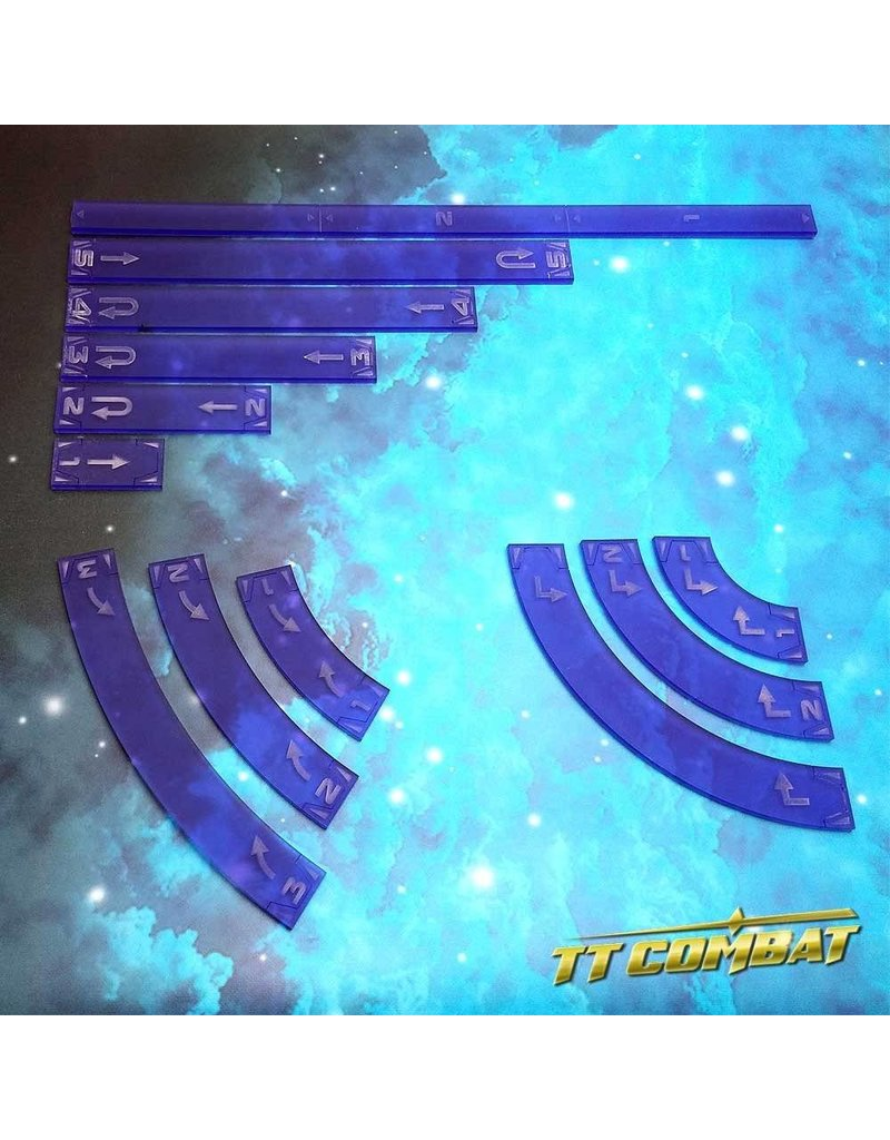 TT COMBAT Space-Wing Templates (Frosted Purple)