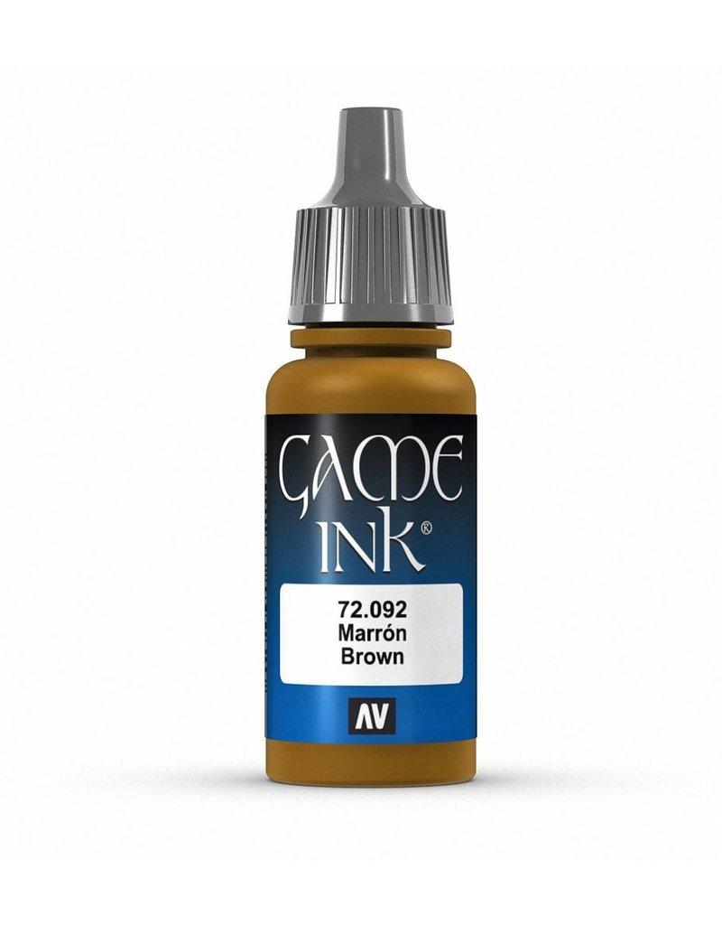 Vallejo Game Ink - Brown Ink 17ml