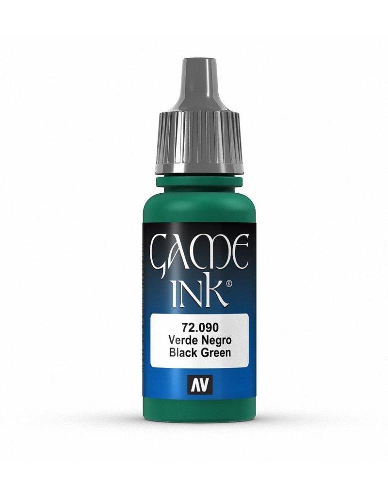 Vallejo Game Ink - Black Green Ink 17ml