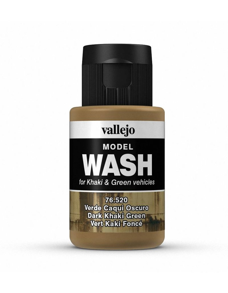 Vallejo Model Wash – Dark Khaki Green 35ml